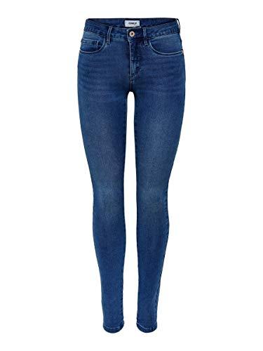 Only onlROYAL REG SKINNY JEANS PIM504 NOOS - Vaqueros Mujer, Azul (Medium Blue Denim), Talla alemana: 38/L30 (Talla fabricante: M)