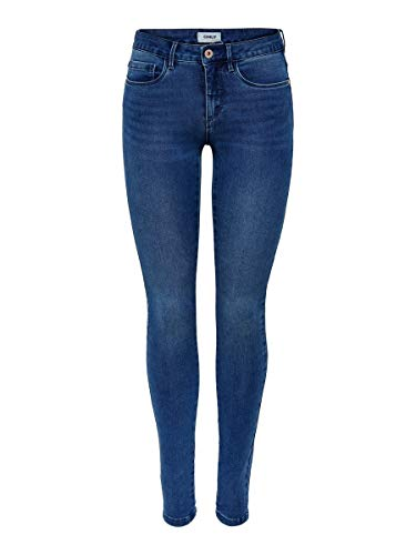 ONLY Damen Skinny Fit Jeans ONLRoyal Regular S32Medium Blue Denim