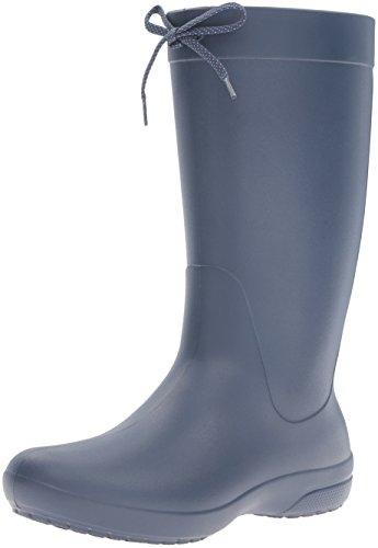 crocs Damen Freesail Rain Boot Gummistiefel, Blau (Navy 410b), 42/43 EU