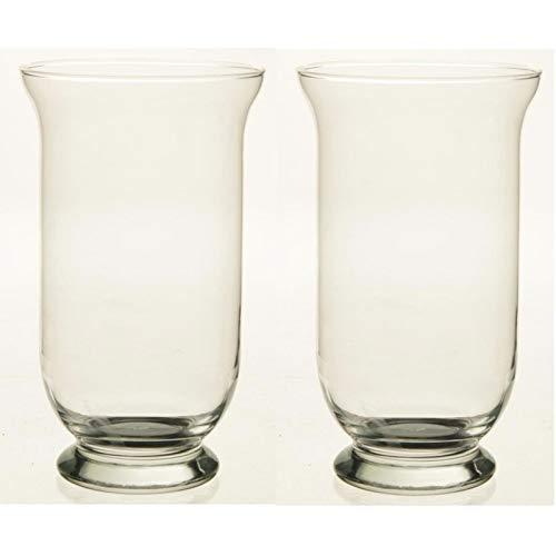2x Kelk vaas glas 25 cm Transparant