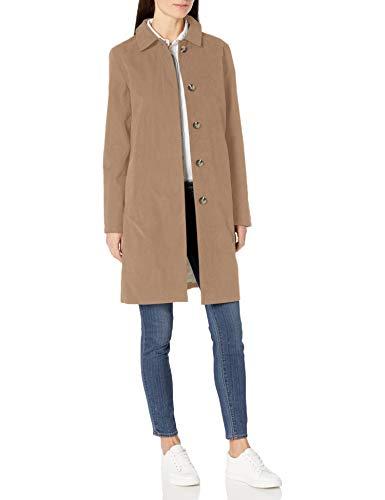 Amazon Essentials Wasserdichter Kragenmantel outerwear-jackets, khaki, M