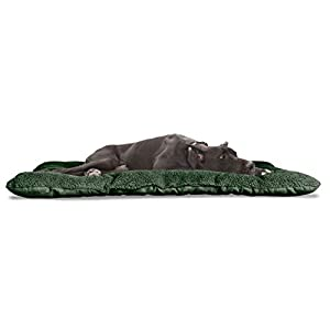 Furhaven Pet Dog Bed Kennel Pad – Reversible Terry and Suede Crate or Kennel Mat Tufted Pillow Cushion Pet Bed for Dogs and Cats, Forest, XX-Large