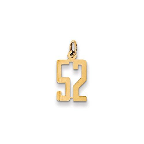 Abalorio alargado de oro amarillo de 14 quilates, pequeño pulido, 52 unidades