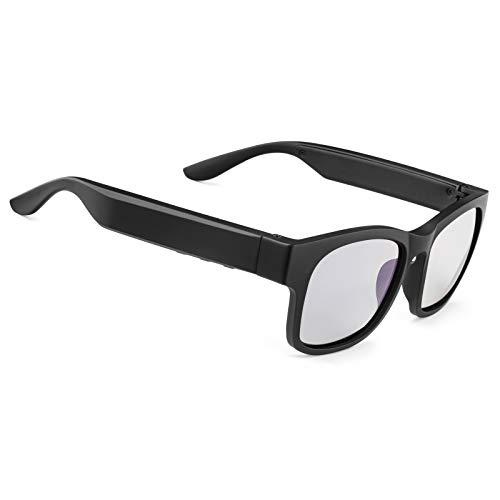 Smart Audio Sonnenbrille polarisierte Gläser UV400 Open Ear Bluetooth Sonnenbrille Lautsprecher Musik hören Telefonieren (schwarzer Rahmen)