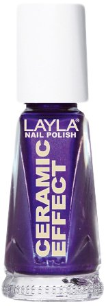 Layla Cosmetics 1243R23-059 Ceramic Effect Nagellak - blackberry, 1-pack (1 x 0,01 l)