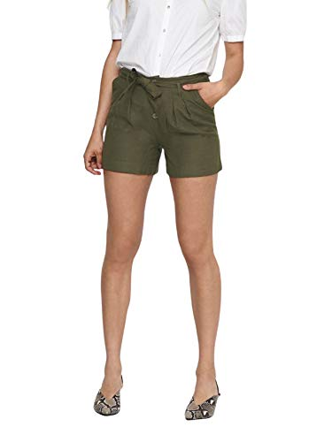 ONLY Female Shorts High Waist Gürtel 38Forest...