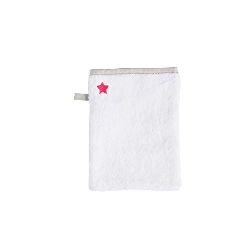 BLANC CERISEGant de toilette en coton peigné 450 g/m², brodéBlanc-grenadine015x021 cm