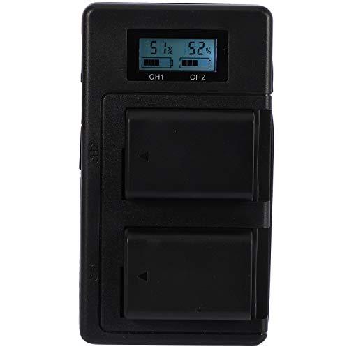 Fltaheroo 2Pcs 2000Mah Np-Fw50 NP Fw50 Bateria De La Camara + LCD USB Cargador Doble para Alpha A6500 A6300 A6000 A5000 A3000 Nex-3 A7R