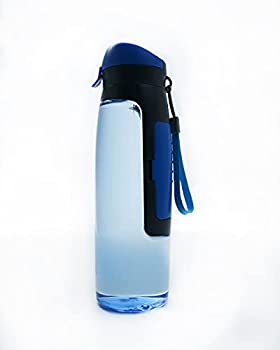 Unisex Outdoor Sports Water Bottle with Wallet for Key Card and Money Holder for Storage  Blue