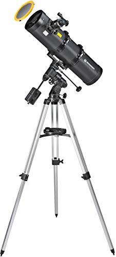 Bresser Spiegelteleskop Pollux 150/750 mit Smartphone Kamera Adapter und hochwertigem Objektiv-Sonnenfilter, inklusive Montierung, Stativ und Zubehör