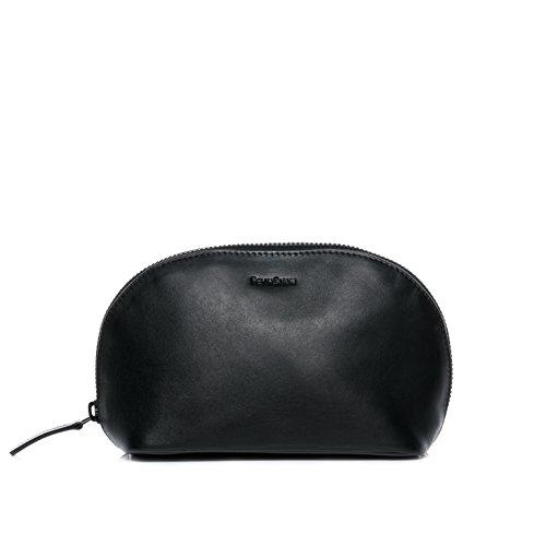 FEYNSINN borsa toiletry vera pelle KARLI borsetta necessaire Toilette pochette beauty case da Viaggio donna nero
