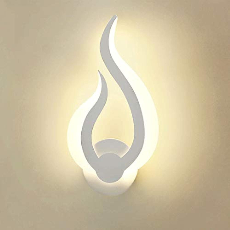 LED Acryl Wandleuchte Eisen Lampensockel Schlafzimmer Nachttischlampe Wohnzimmer Korridor Dekorative Nachtlicht (Farbe   Three-Farbe light-G)