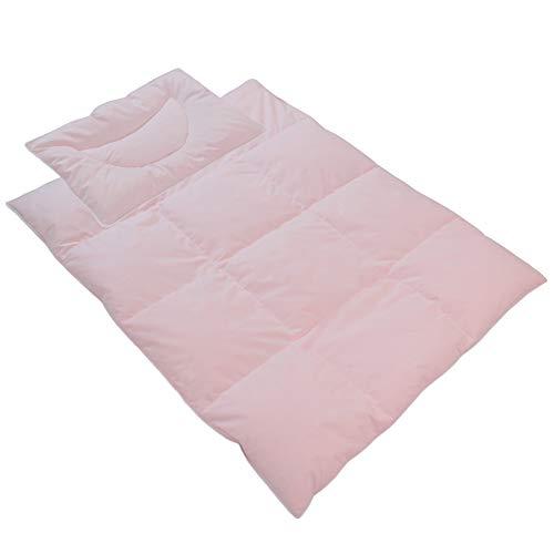 DILUMA | Kinder Bettdecken Set Junior Comfort Rosa | Daunendecke 100x135 cm + Kopfkissen 40x60 cm | 60% Daunen 40% Federn