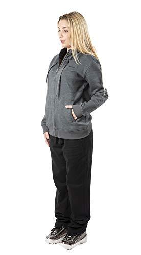 Champion Frau Anzug Sweatshirt Grau/Schwarz (Art.110902) - grau/schwarz, L