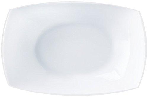 Plat de présentation rectangle QUADRATO Blanc 35x26 cm LUMINARC