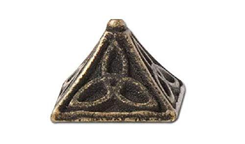 Celtic Pyramid Rivets 6/pk (Antique Brass Plate/Nickel Free, 1/2' (13 mm))
