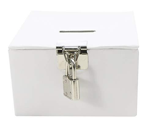 Maildor Tesoro Caja para Personalizar, Color Blanco