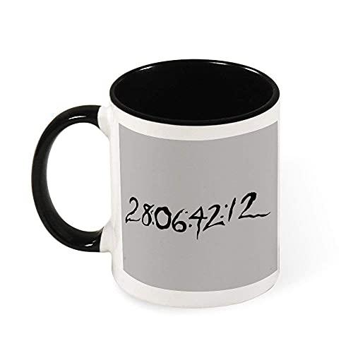 N\A 28 06 42 12 Donnie Darko Time Borrar Taza del té Luz de cerámica Taza, Regalo para Las Mujeres, Las niñas, Esposa, mamá, Abuela, 11 oz