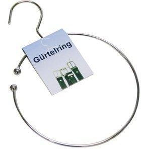 Jean products 1x Gürtelring, Krawattenhalter mit Haken für den Kleiderschrank, Ø 14cm
