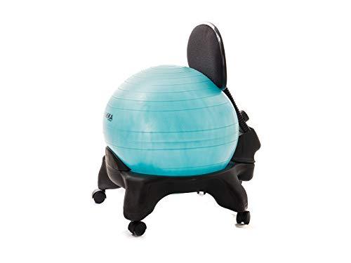 Kikka PLUS Active Chair Acquamarina - Sedia Ergonomica con Pallone Gonfiabile e Schienale Regolabile