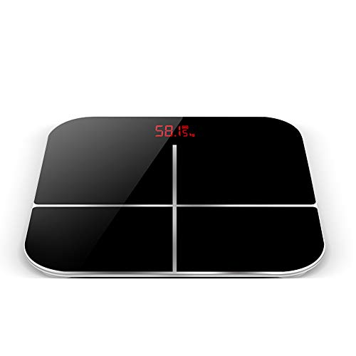 YUHUANG Bluetooth-Körperfettwaage, intelligente Digitale BMI-Waage mit Smartphone-App (schwarz, weiß, pink),A