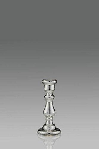 Cadeaux.com Chandeliers de verre d'argent, H 18,0 cm Ø 8,0 cm