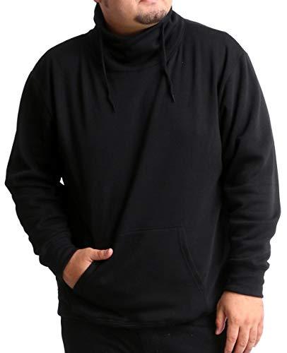 [スマック] スウェットシャツ メンズ 父の日 ギフト おおきいサイズ 長袖 カジュアル トレーナー ゆったり プルオーバー おしゃれ 裏起毛 スピンドルネック ブラック 3L