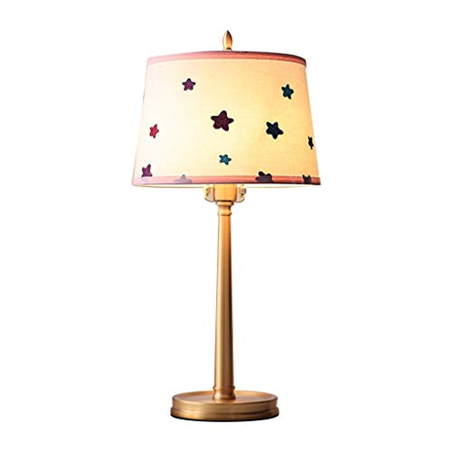 Bedside Table Lamp Bedroom Bedside Star Table Lamp American Decoration Home Children's Room Small Lamp Table Lamps (Color : B)