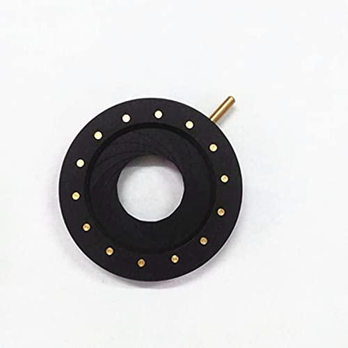 WHEEJE Piezas de Condensador de la cámara del microscopio del diafragma de la Abertura del Iris de 1.5-25mm