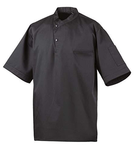 Exner Kochhemd Modell 211, halbarm (XL, schwarz)