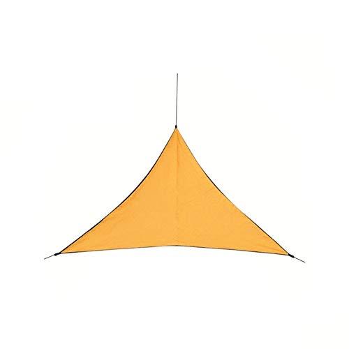 Outdoor Shade Sunscreen Waterproof Triangular UV Sunshine Shade Sail Combination Net Triangle Sunshine Camping Garden Sail Tent Unisex Outdoor Dome Tent (Color : Orange)