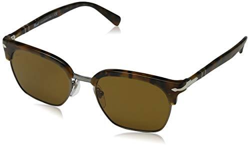 Persol 0PO3199S Gafas de sol, Rectangulares, 52, Tortoise Dark Brown