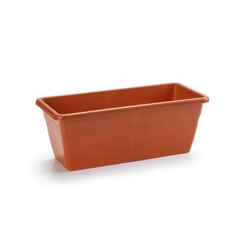 CABLEPELADO Jardinera plastico 40 cm Marron
