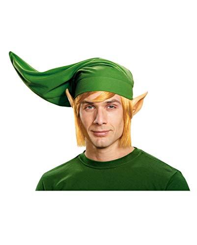 Horror-Shop Legend of Zelda Link Mütze, Ohren & Perücke als Kostümzubehör & Cosplay