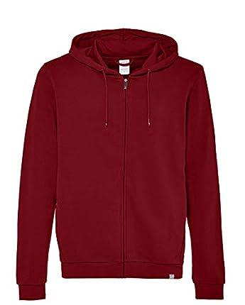 CARE OF by PUMA Sudadera con capucha de manga larga con capucha y cremallera para hombre, Rojo (Red), M, Label: M