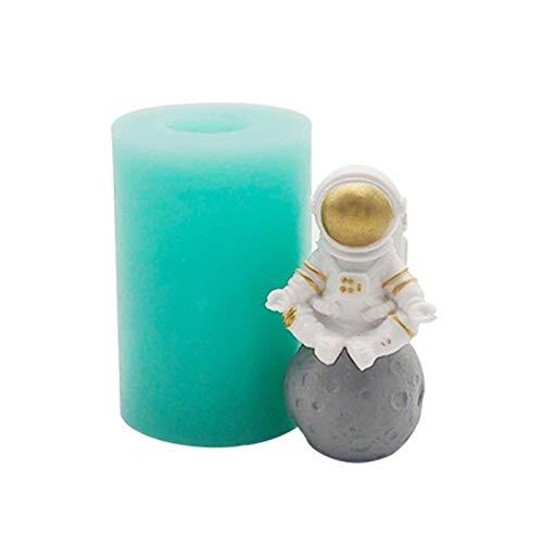 NZ Molde De Silicona De Astronauta 3D, Se Puede Reutilizar Molde De Resina DIY, Molde para Hornear Pasteles, Utensilios para Hornear Hechos A Mano De Chocolate con Fondant