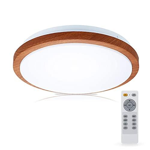 LEDシーリングライト 木目調 32W 3200lm 8畳 調光調色 電球色 昼光色 リモコン付き 常夜灯 明るさメモリー 30分/60分おやすみタイマー 引き掛け式 和風 屋内 天井照明 取付簡単