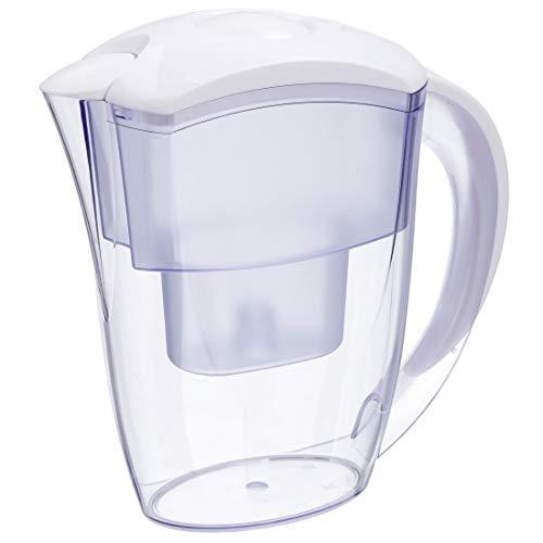 Xavax Wasserfilterkanne mit 1 Filterkartusche, Kunststoff, Weiß, Universal