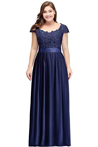 Misshow Abschlusskleid Große Größen Elegant Abendkleider Lang Chiffon Prom Dress