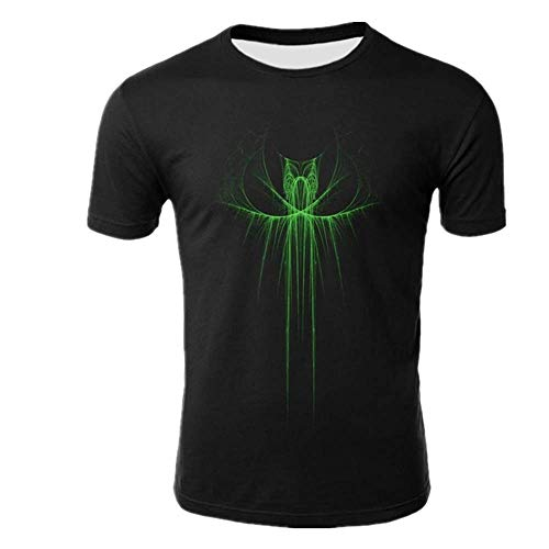N\P T-Shirt Uomo Nero T-shirt Uomo Casual Stampa Girocollo Manica Corta Estate Top T-Shirt Tx-kl-1700 XXL
