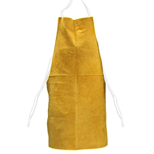 Mrcartool Leather Welding Work Apron,Heat Resistant&Flame Resistant for Men and Women