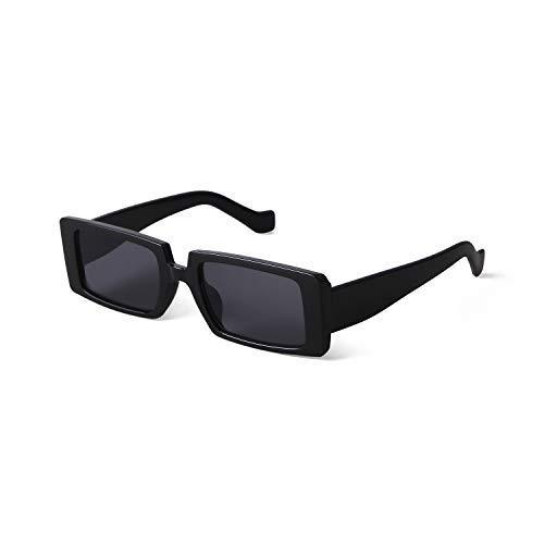 ADEWU Mode Sonnenbrille Rechteckig Retro Schmale Brille mit UV Schutz Sunglasses f¨¹r Damen Herren