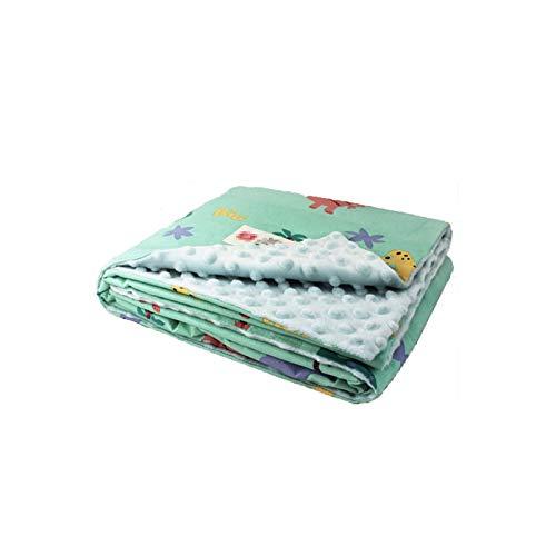TWW Se Reconfortan Las Mantas para Niños, Mantas De Frijoles Y Mantas De Aire Acondicionado para Niños para Recién Nacidos,Green 75X105cm
