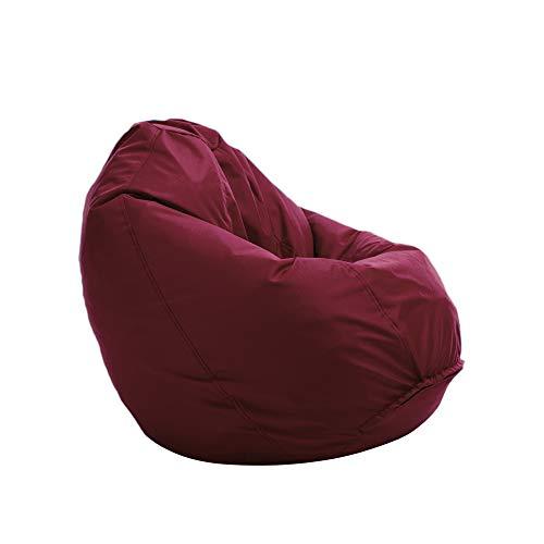 Bruni Sitzsack Classico L in Bordeaux – XL Sitzsack mit Innensack zum Lesen, Abnehmbarer Bezug, lebensmittelechte EPS-Perlen als Bean-Bag-Füllung, aus Deutschland