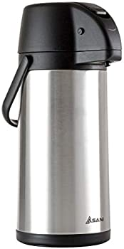 Thermal Coffee Airpot Carafe  101oz  | 17-Cup Insulated Thermos with Pump Beverage Dispenser | 20-Hour Hot and Cold Insulation | Stainless Steel Urn for Tea Water Coffee Iced Drinks