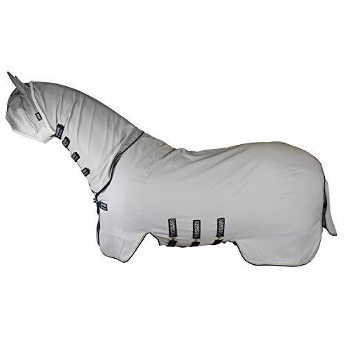 Horseware Rambo Sweetitch Hoody Fly Sheet 125cm Grey/Beige/Baby Blue