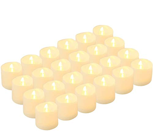 Kohree 24 x Velas LED Realista brillante Parpadeo con pilas