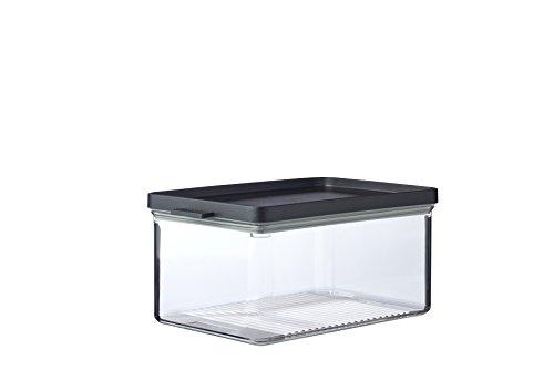 Mepal Omnia Kühlschrankdose, Butadien (ABS), Styrol-Acrylnitril (SAN), Thermoplastische Elastomere (TPE), Nordic Black, Länge: 230 mm, Breite: 149 mm, Höhe: 110 mm