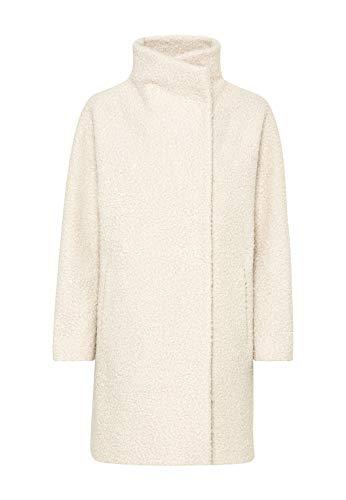 HALLHUBER Oversize-Mantel aus Curly-Fake-Fur weit und gerade geschnitten Creme, 42