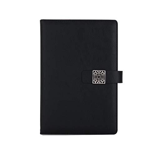 Cuaderno Simple Espesado Exquisito Estudio Bloc de notas Oficina Diario Grabación lucar (Color : Gray, Size : 14.7 * 21.8cm)